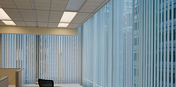 commercial draperies unlimited offers three different graber brand vertical headrail systems to meet the demand for any commercial application - Drapes And Blinds