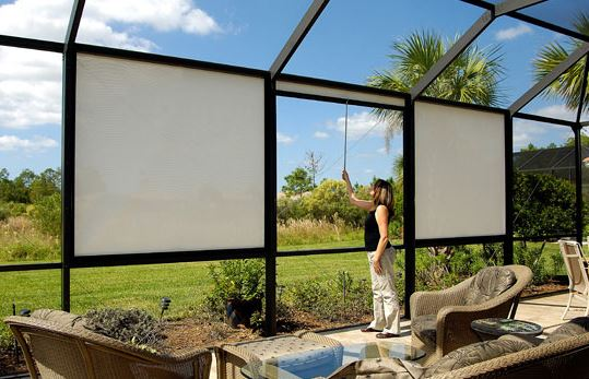 Retractable Screens Commercial Drapes And Blinds