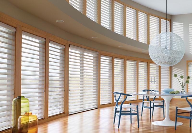 Hunter Douglas Silhouette Window Shadings Commercial Drapes And - Hunter douglas blinds for patio doors